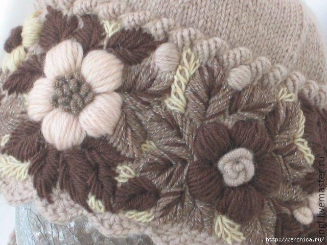 Вышивка вязаными нитками