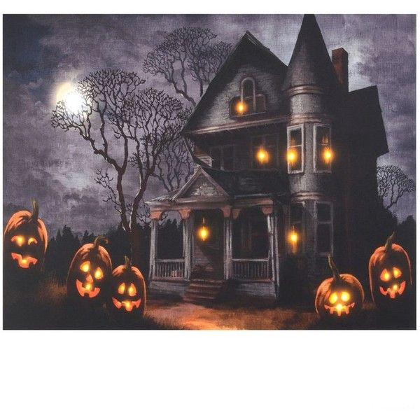 At Home Home Decor Part - 35: Haunted Mansion LED Canvas Art Print ($40) ? Liked On Polyvore Featuring  Home,