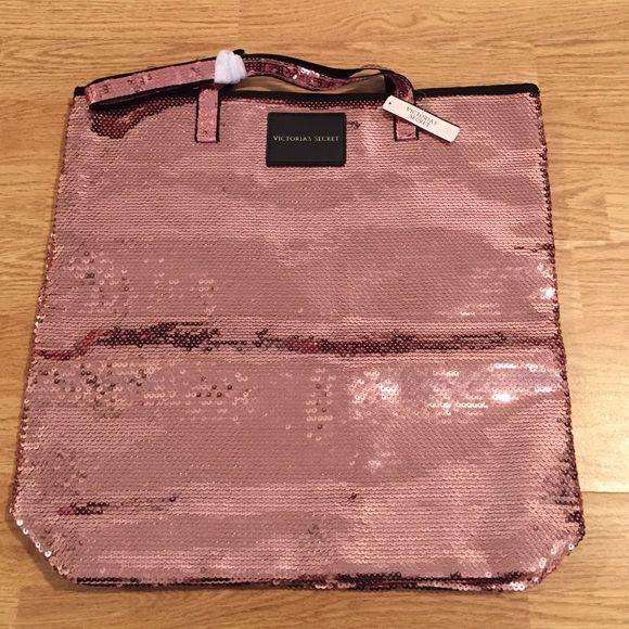 """Victoria's Secret bag Victoria's Secret sequins bag. 15 1/5""""x15"""". New Victoria's Secret Bags"""