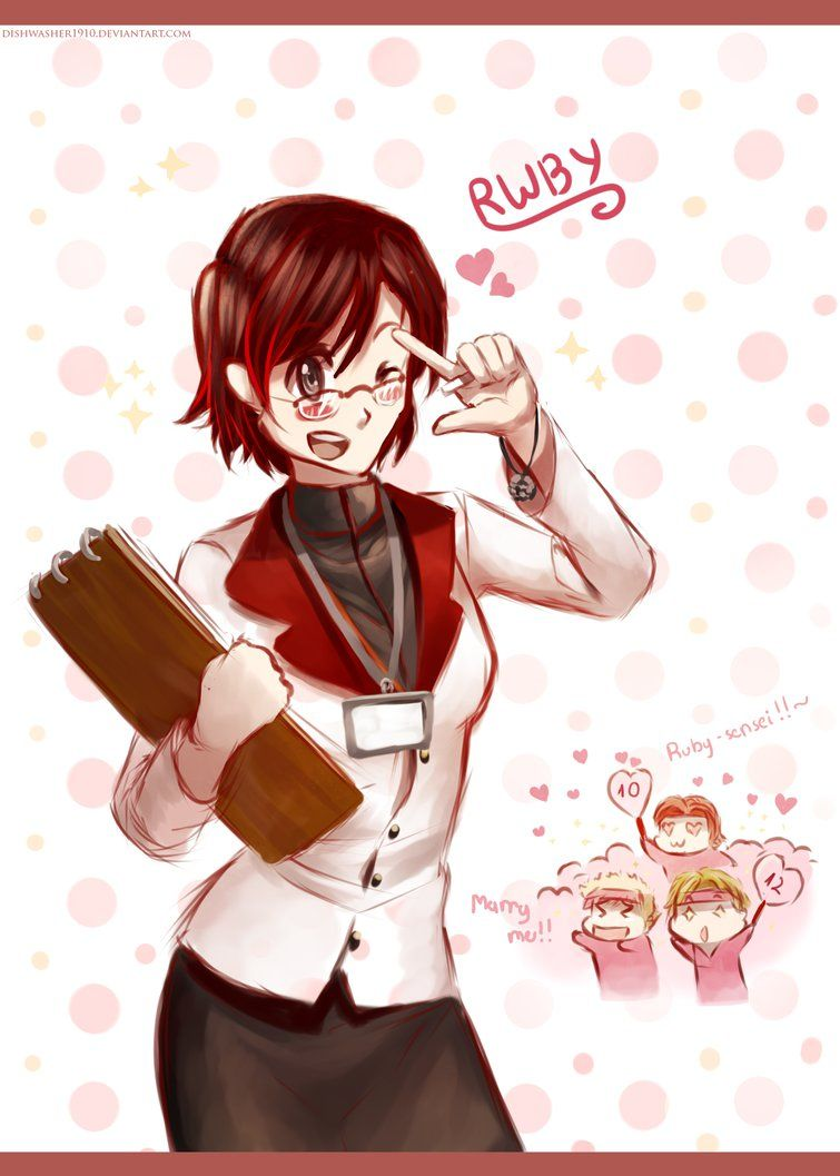 Doodle : Ruby Rose the homeroom teacher by dishwasher1910 | RWBY