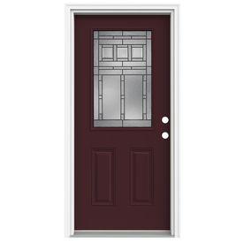 ReliaBilt 36-in Half Lite Decorative Currant Inswing Fiberglass Entry Door  sc 1 st  Pinterest & ReliaBilt 36-in Half Lite Decorative Currant Inswing Fiberglass ...