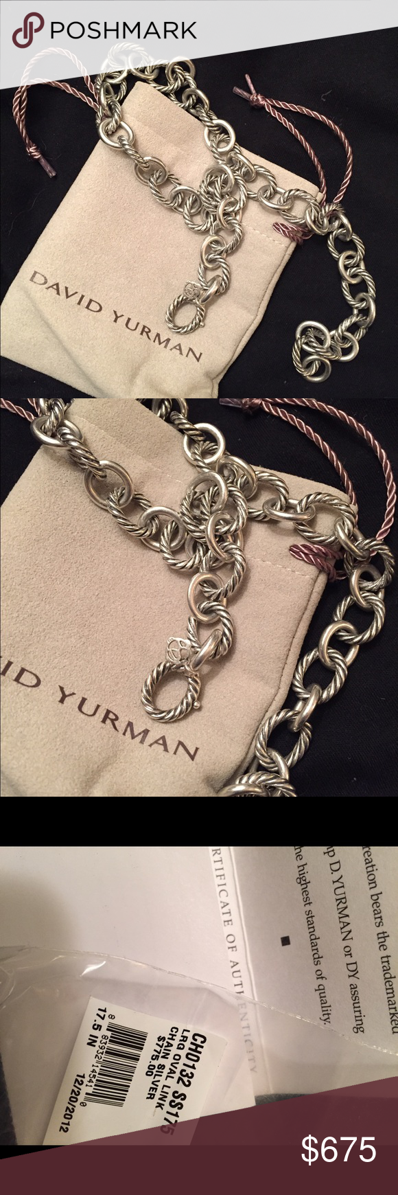 Gorgeous authentic David Yurman necklace❤️ Stunning, super classic David Yurman necklace David Yurman Jewelry Necklaces