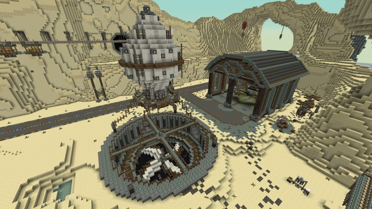 Western Steampunk City Minecraft Project Minecraft