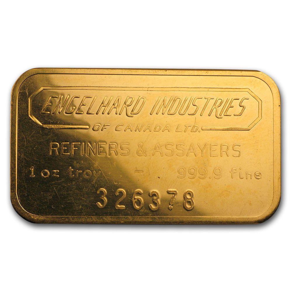 1 Oz Gold Bar Engelhard Industries Sku64364 Gold Bars For Sale Gold Bar Gold Bullion Coins