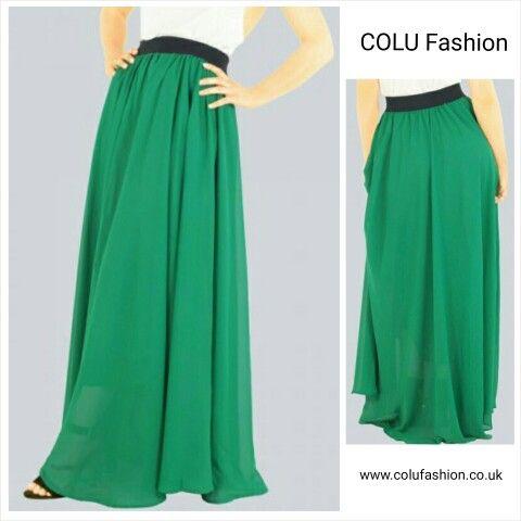 Gorgeous #maxiskirt by #colufashion #greenskirt #chiffonskirt #lfw #londonfashion #fashion #fashionblog #fashionblogger