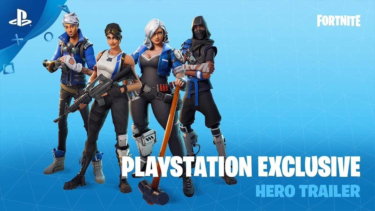 Skin Exclusif Fortnite Ps4 Fortnite Playstation Exclusive Hero Trailer Ps4 Youtube Di 2020