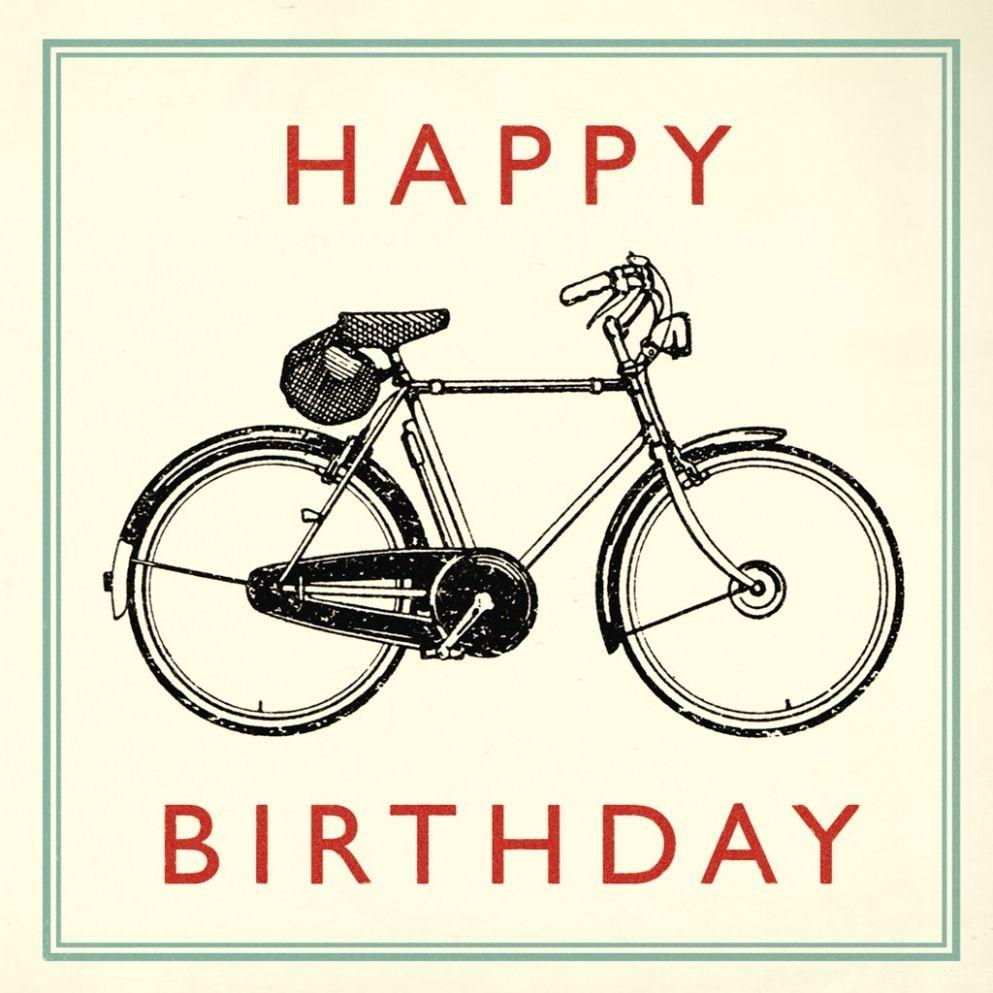 Bicycle Birthday Card Cyclechic Happy Birthday Bicycle Happy Birthday Vintage Birthday Cards For Niece