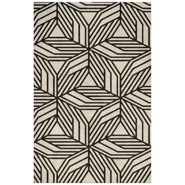 Cauca Hand Tufted Tencel Rug In Black And White In 2020 Contemporary Rugs Cozy Rugs Modern Rugs