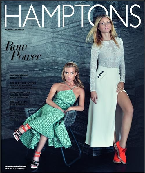 #Styled by Robert Behar / Gwyneth Paltrow and Tracy Anderson featured on the Memorial Day issue of #Hamptons magazine / #Photography by Rene & Radka #RobertBehar #GwynethPaltrow #TracyAnderson #ReneandRadka #fashion #editorial #beauty