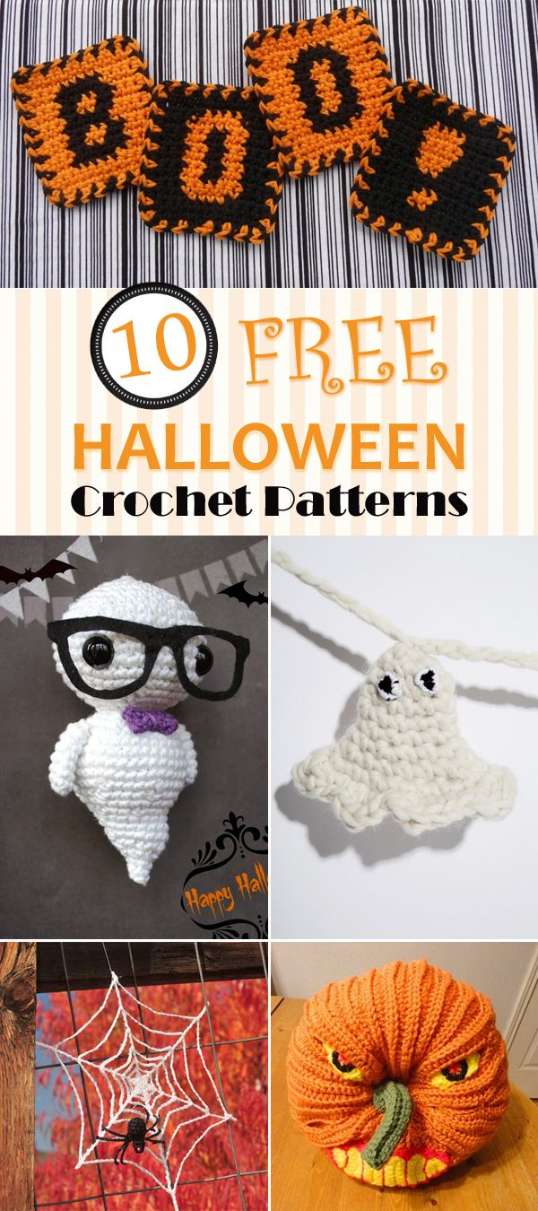 TOP 10 Free Halloween Crochet Patterns | Puntos crochet, Crochet ...
