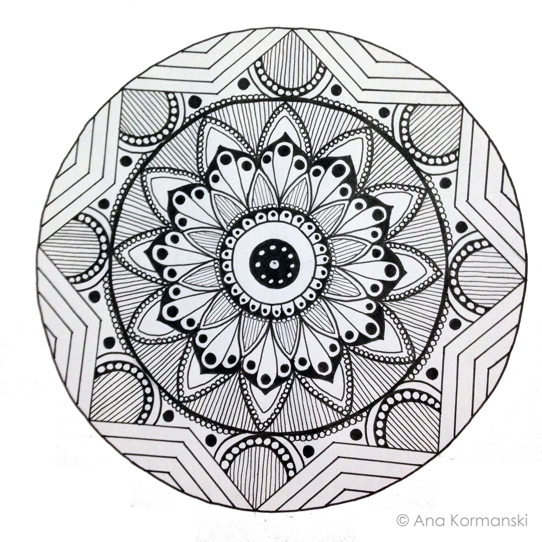 Mandala by Ana Kormanski | Butterfly coloring page ...