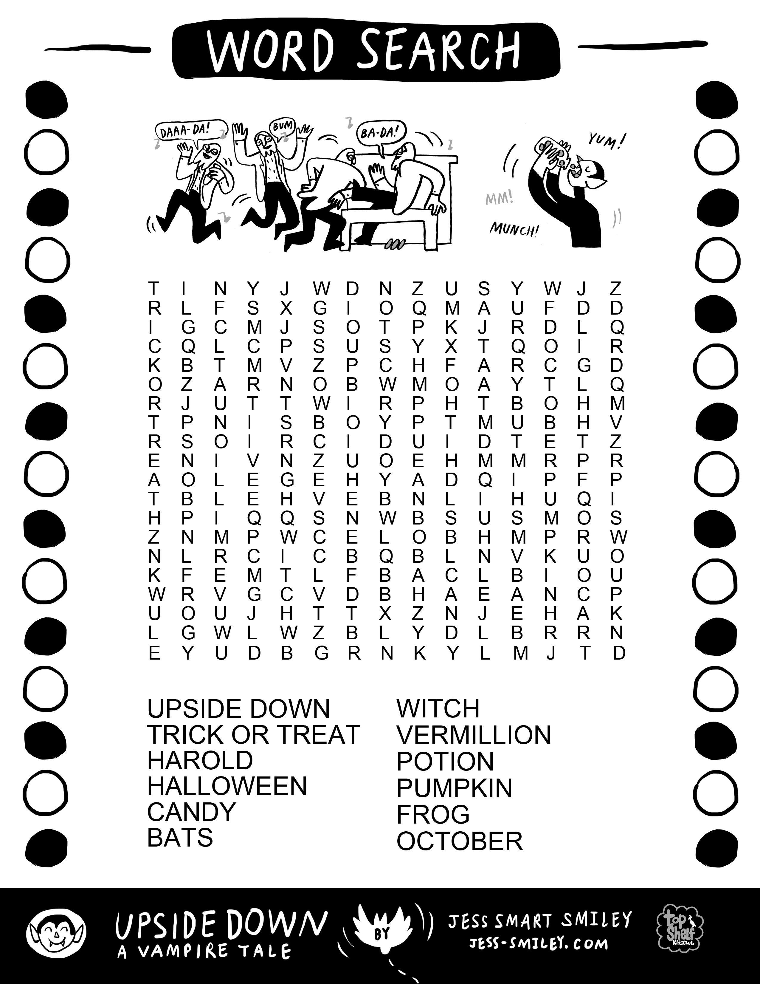Happy October Free Halloween Activity Page