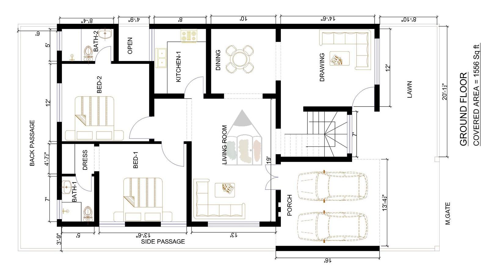 Pin By Saifullah On House Plans