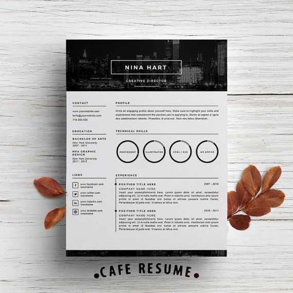 Creative Resume Template + Cover Letter Template for Word DIY - creative director resumes