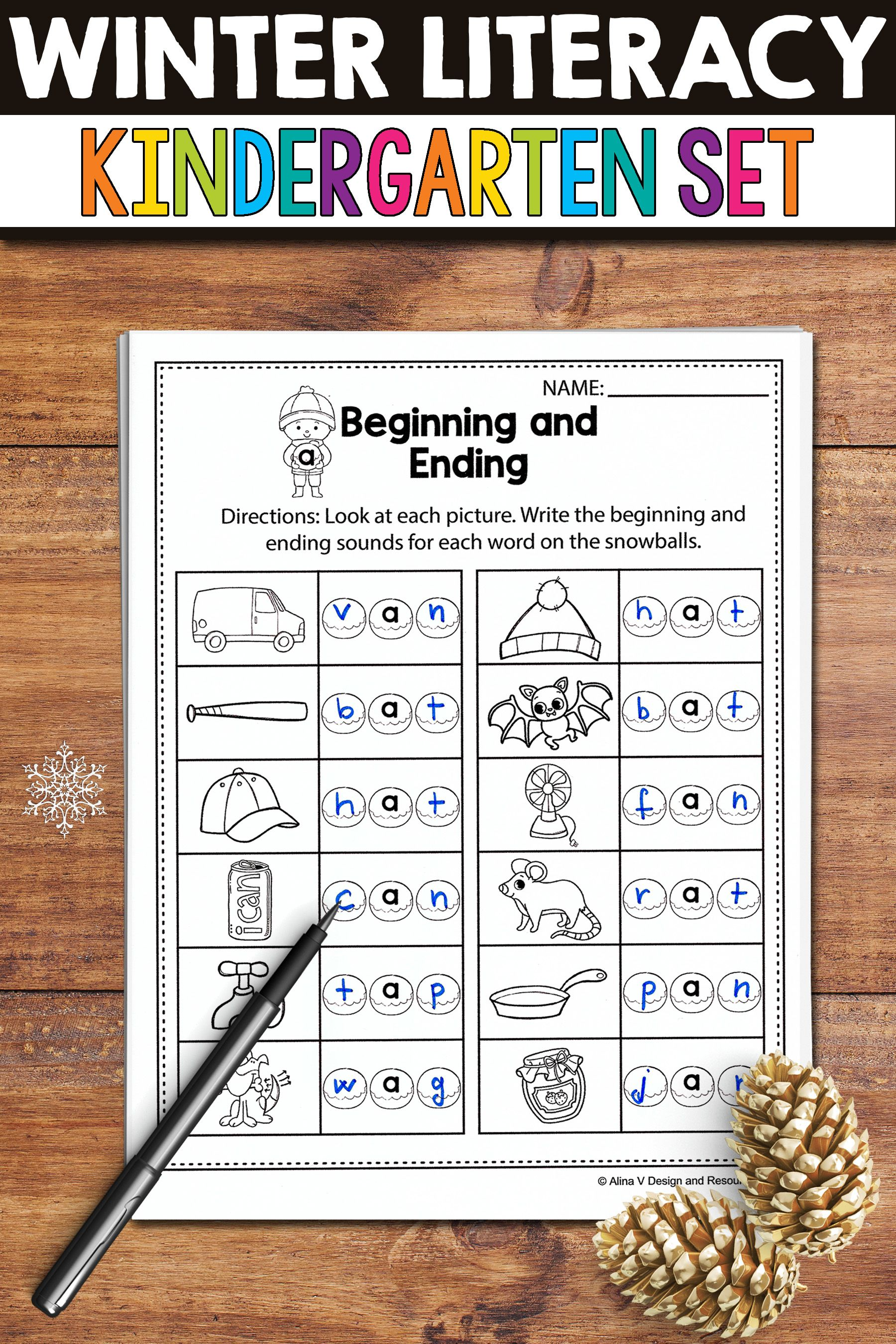 Winter Activities For Kindergarten Literacy No Prep