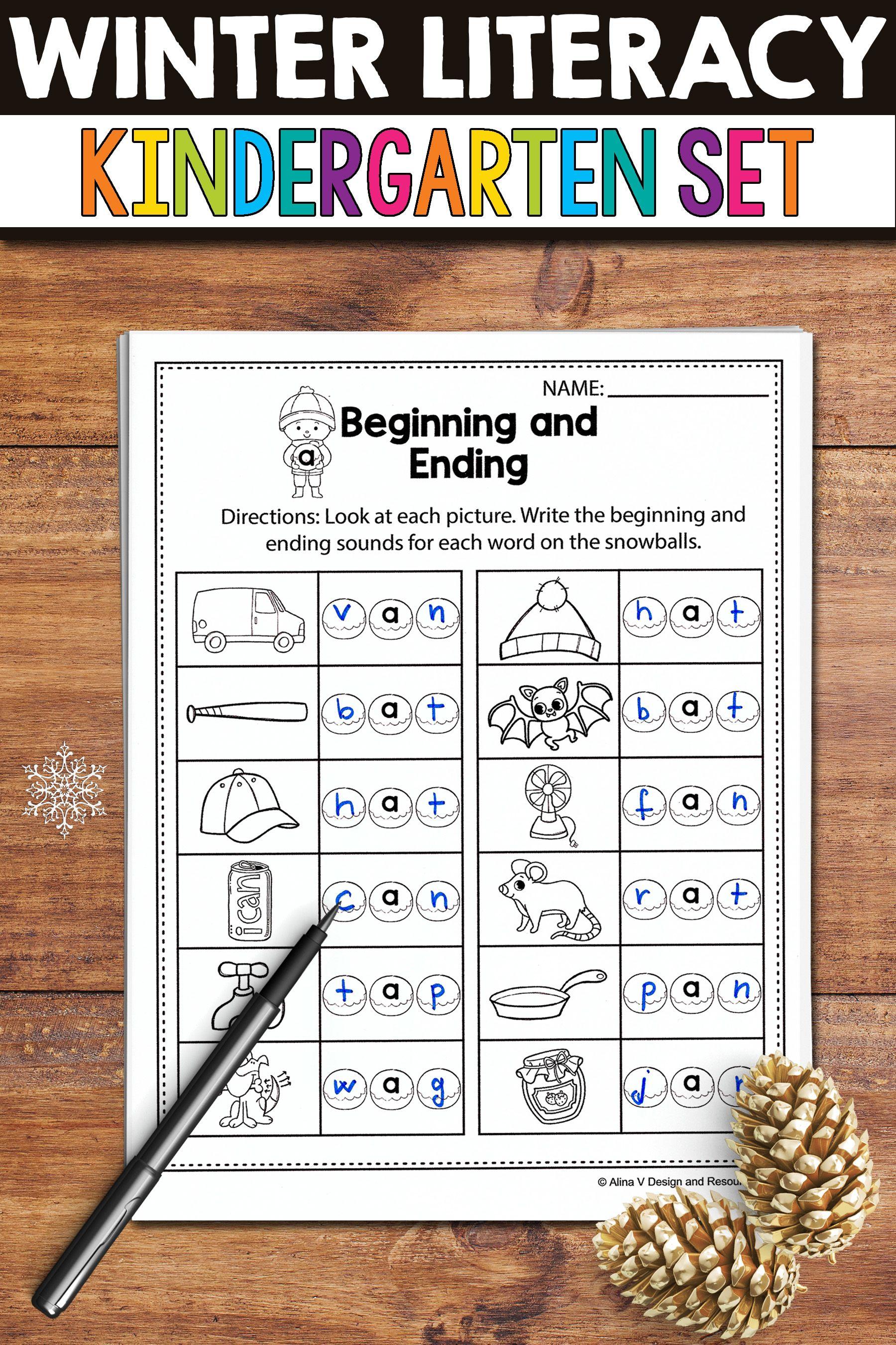 No Prep Winter Literacy Activities And Worksheets For Kindergarten Preschool And Fi Winter Literacy Activities Kindergarten Activities Kindergarten Resources [ 2700 x 1800 Pixel ]