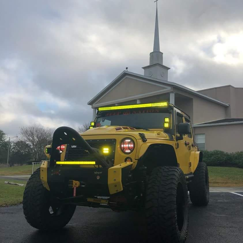 Decked Out Yellow Jeep Wrangler Alot Of Yellow Jeep Wrangler