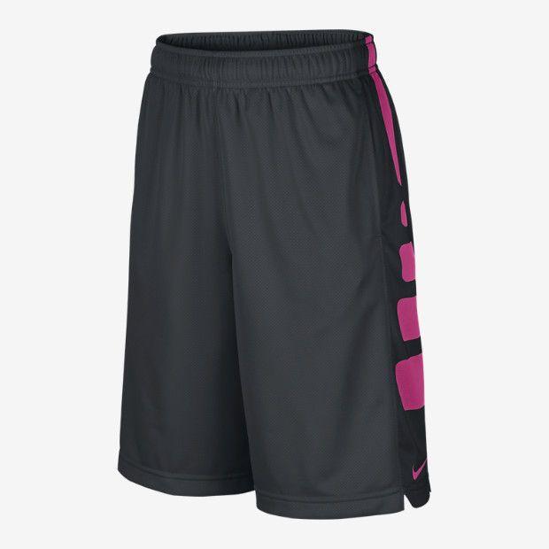 Nike Womens Basketball Shorts - Nike Elite Black/University Red U100n5139
