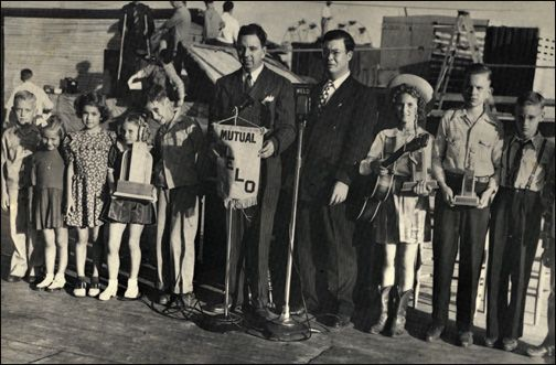 On October 3,1945, ten-year-old Elvis (far right) stood on a chair ...