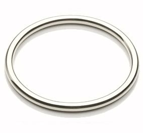Simple Sterling Silver Plain 3mm Bangle 1CgllXh
