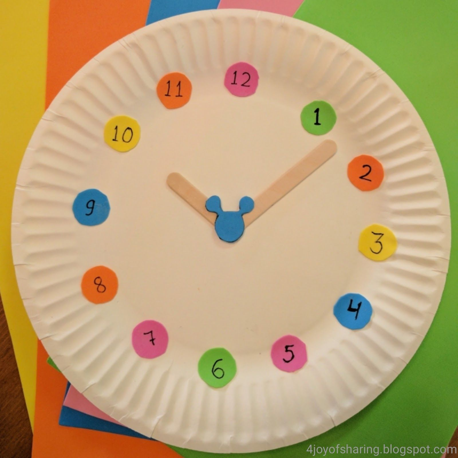 Mickey Mouse Clock Craft