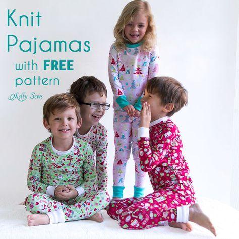 DIY Christmas Pajamas - Sew pajamas with this FREE pattern