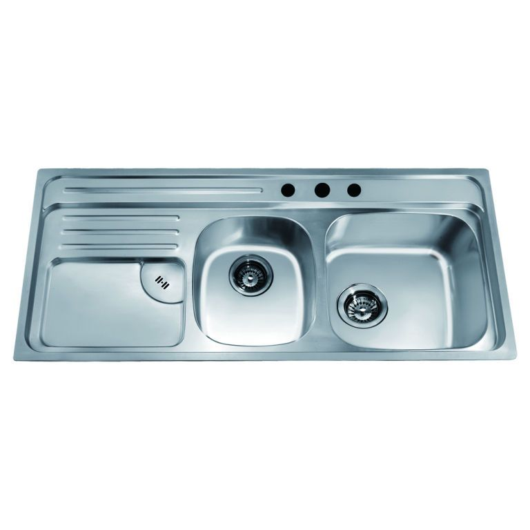 Dawn Top Mount Double Bowl Sink With Integral Drain Board And 3 Holes Large Bow Double Bowl Kitchen Sink Stainless Steel Kitchen Sink Drop In Kitchen Sink