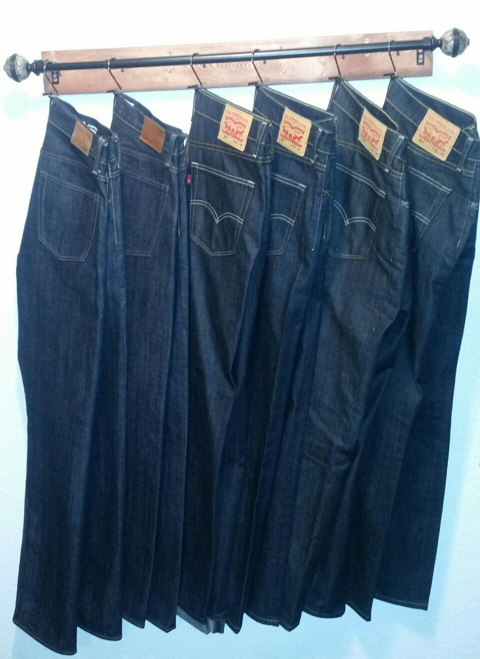 Diy Closet Jeans Hanger Keeping Your Denim Fresh And Wrinkle Free For