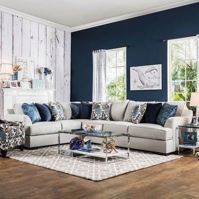 AJ Homes Studio Katherine Sectional Color Light Gray living