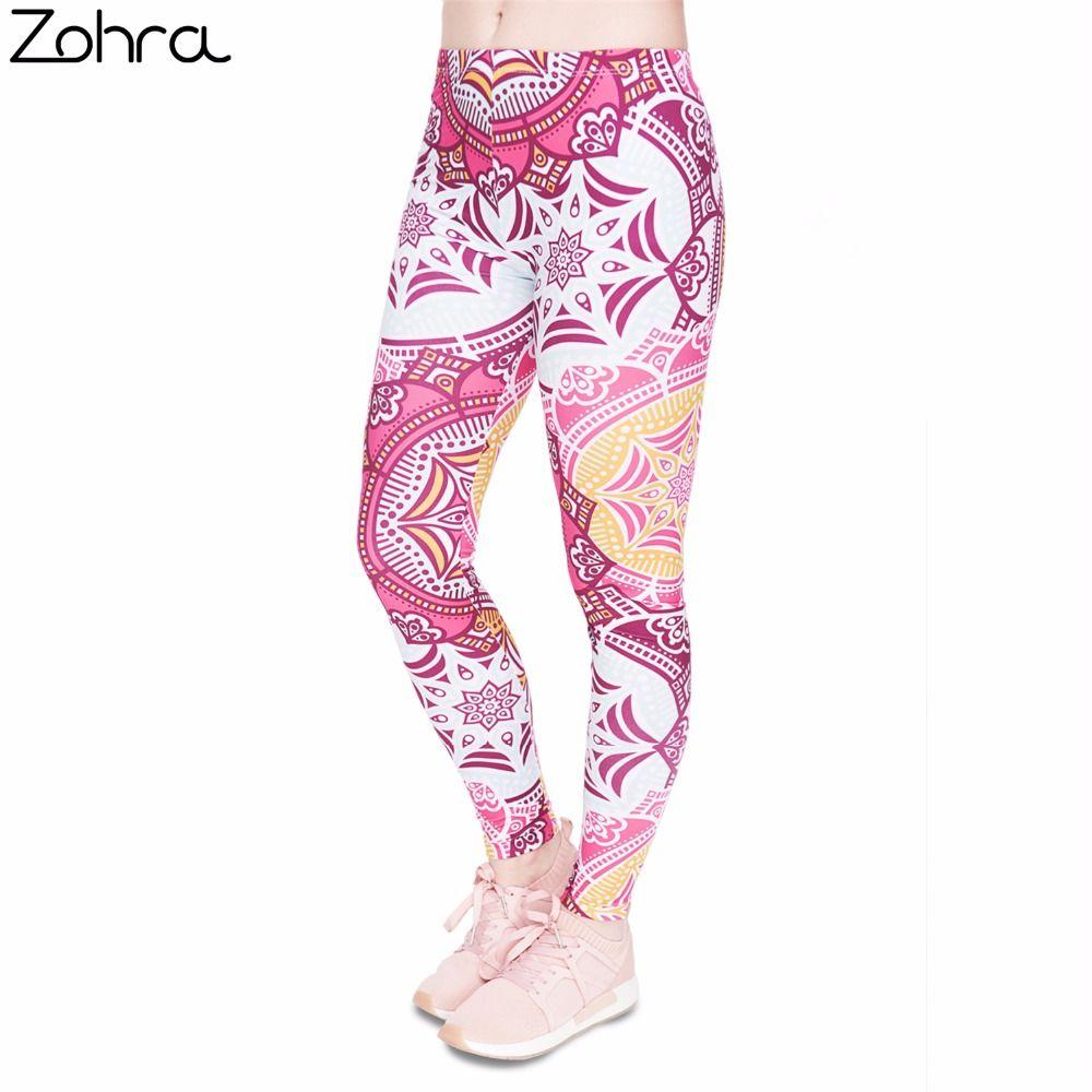 Fitness Legging Mandala Mint Printing Bottoms Sexy High Waist Leggings  Women Pants 6647a88f24dc