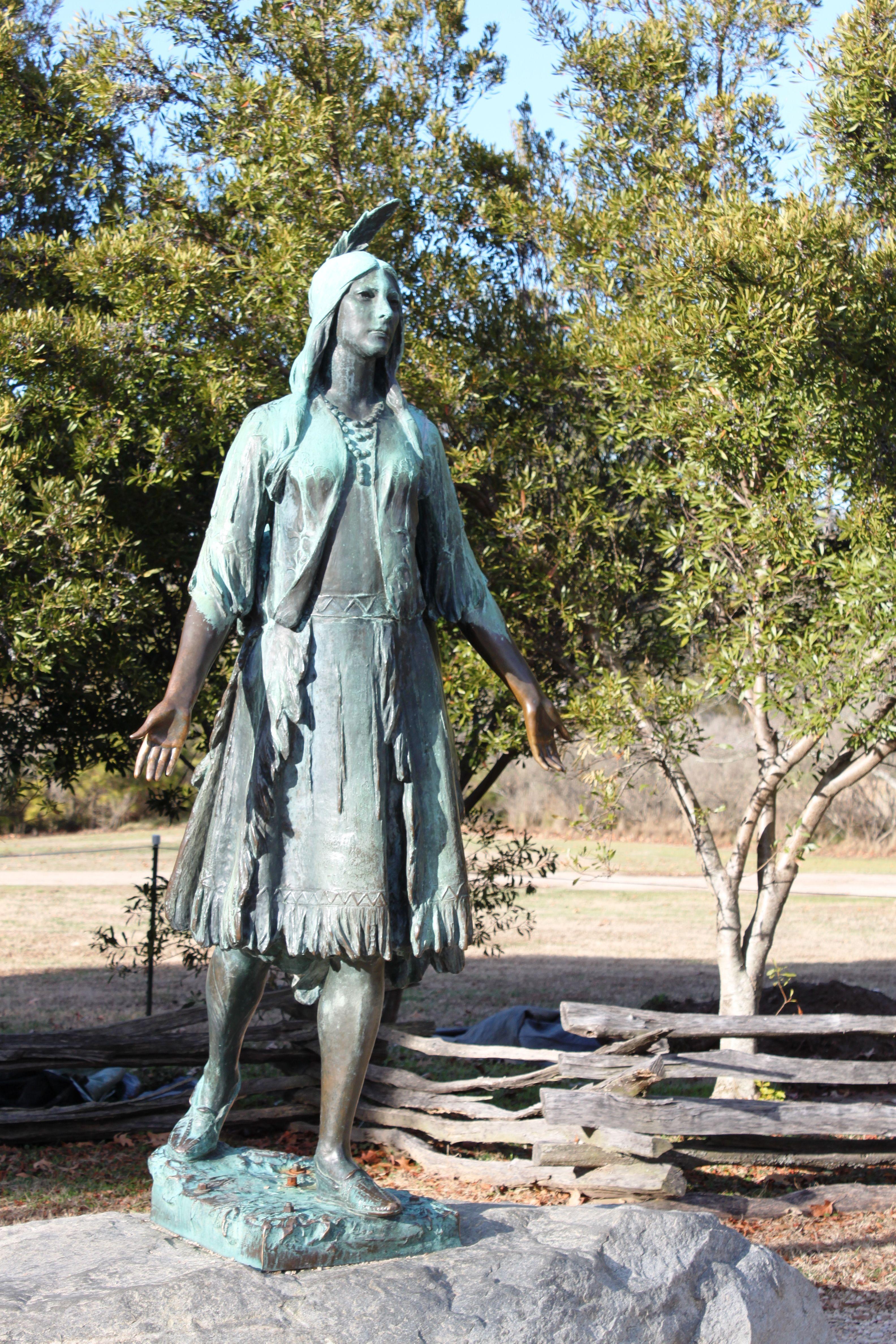 Statue Of Pocahontas Jamestown Taken By Mia Swan
