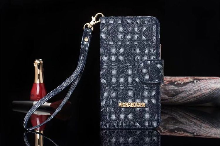 ce94d586a780 Michael Kors iPhone X/8/7/6S/Plus/SE Galaxy S8/7/6/Edge/Note5/8 Wallet Case  Blue