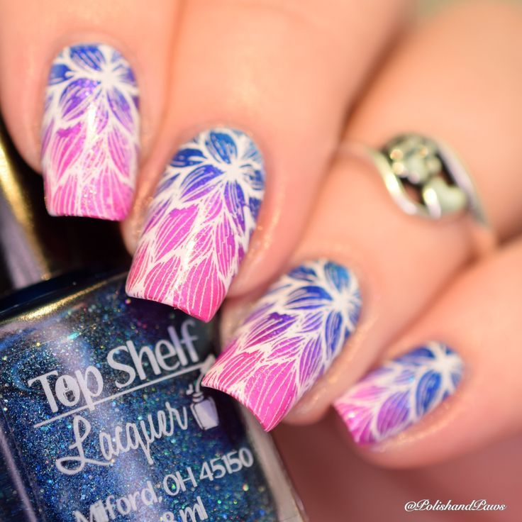 Top Shelf Lacquer Gradient Nail Art Nail Design, Nail Art, Nail Salon, Irvine, Newport Beach