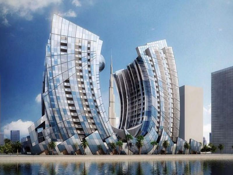 Birləsmis ərəb əmirliklərinin Dubay Səhərində At Nali Formasinda Olacaq Goydələnin Tikintisinə Baslanilib Visiontv Az Report A Is Skyscraper Dubai Waterfront