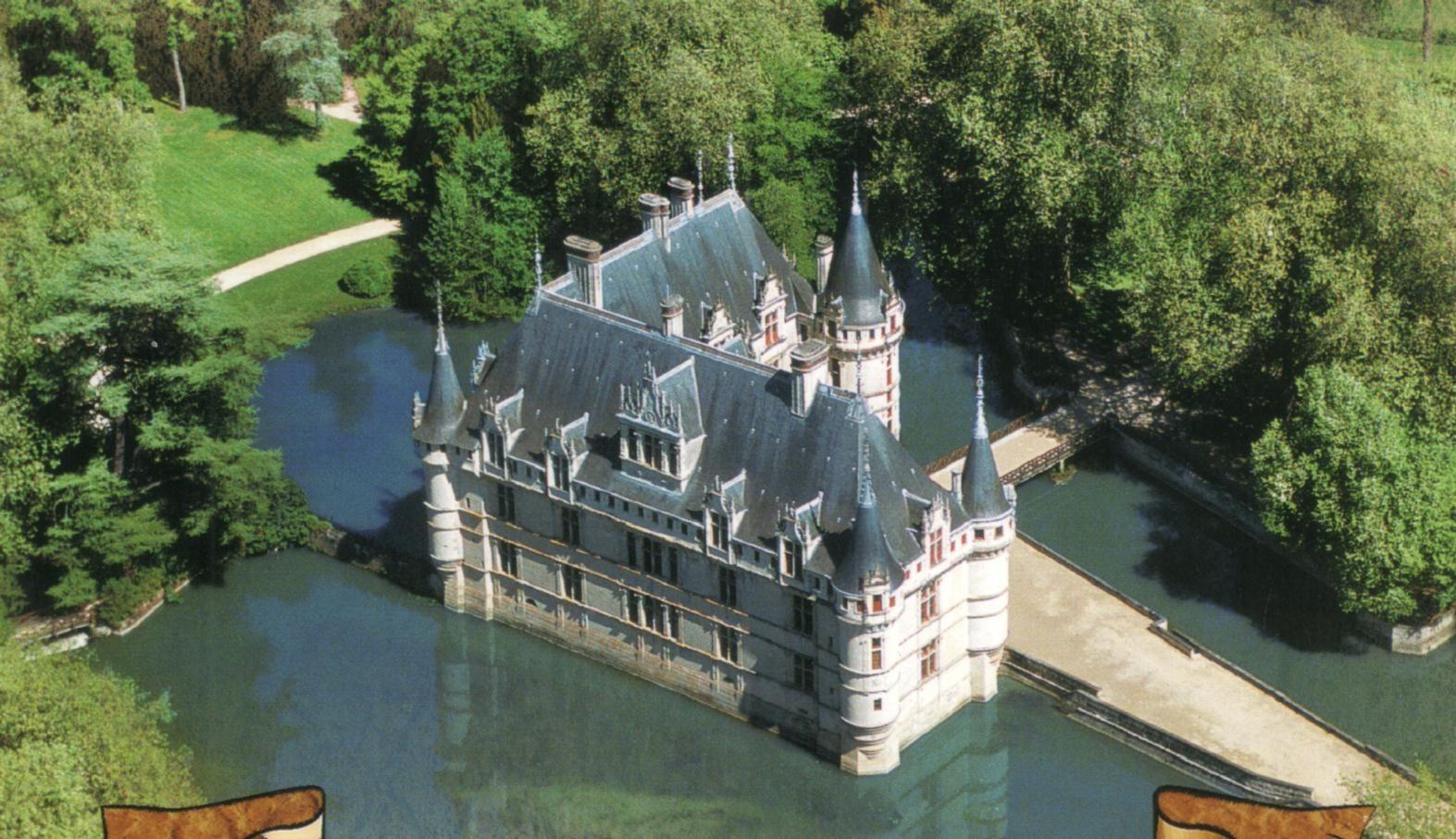 Castello Di Azay Le Rideau Valle Fiume Loira Francia Cerca Con