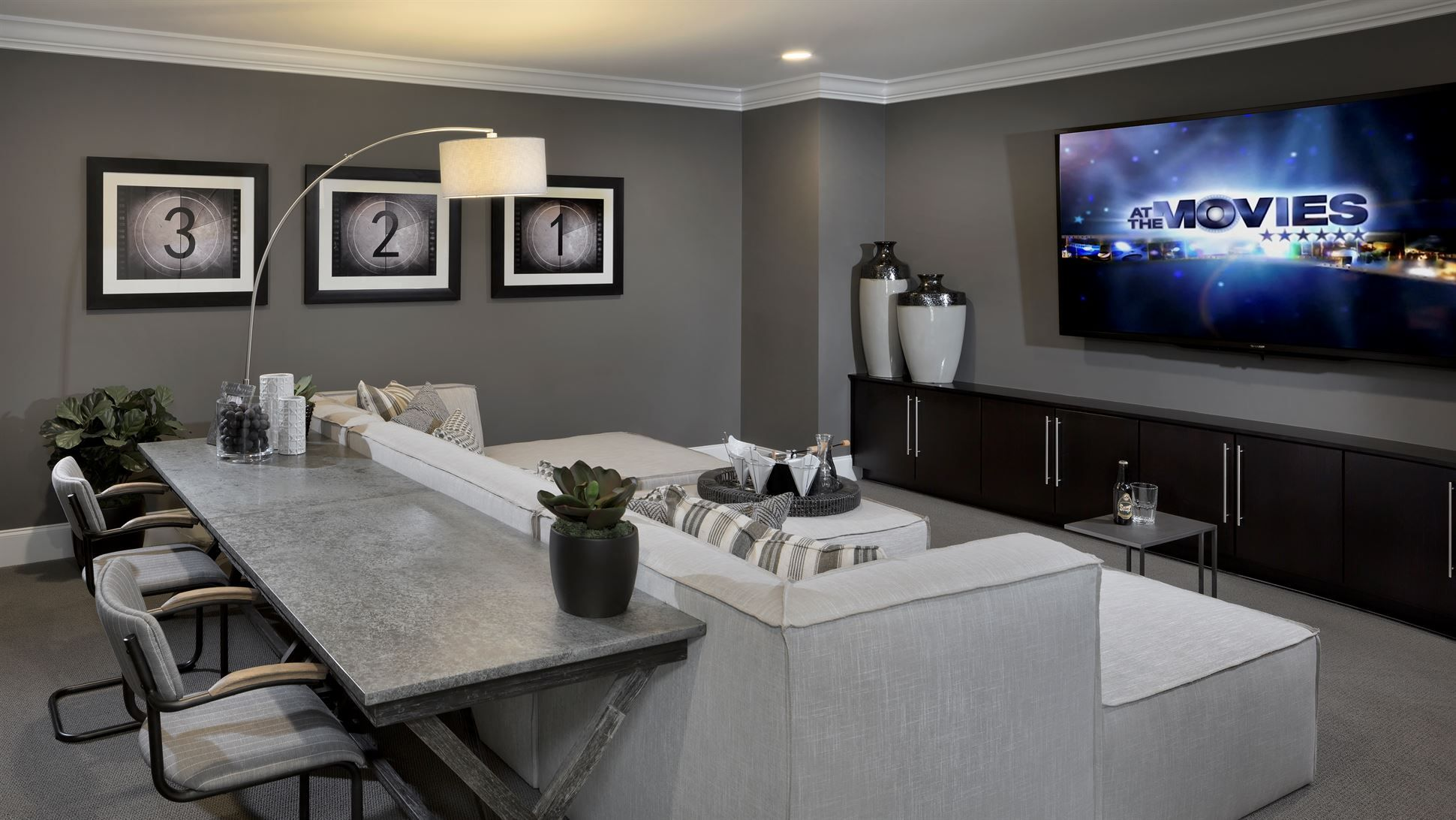 Basement Media Room With Kitchenette - Basement - Pinterest -