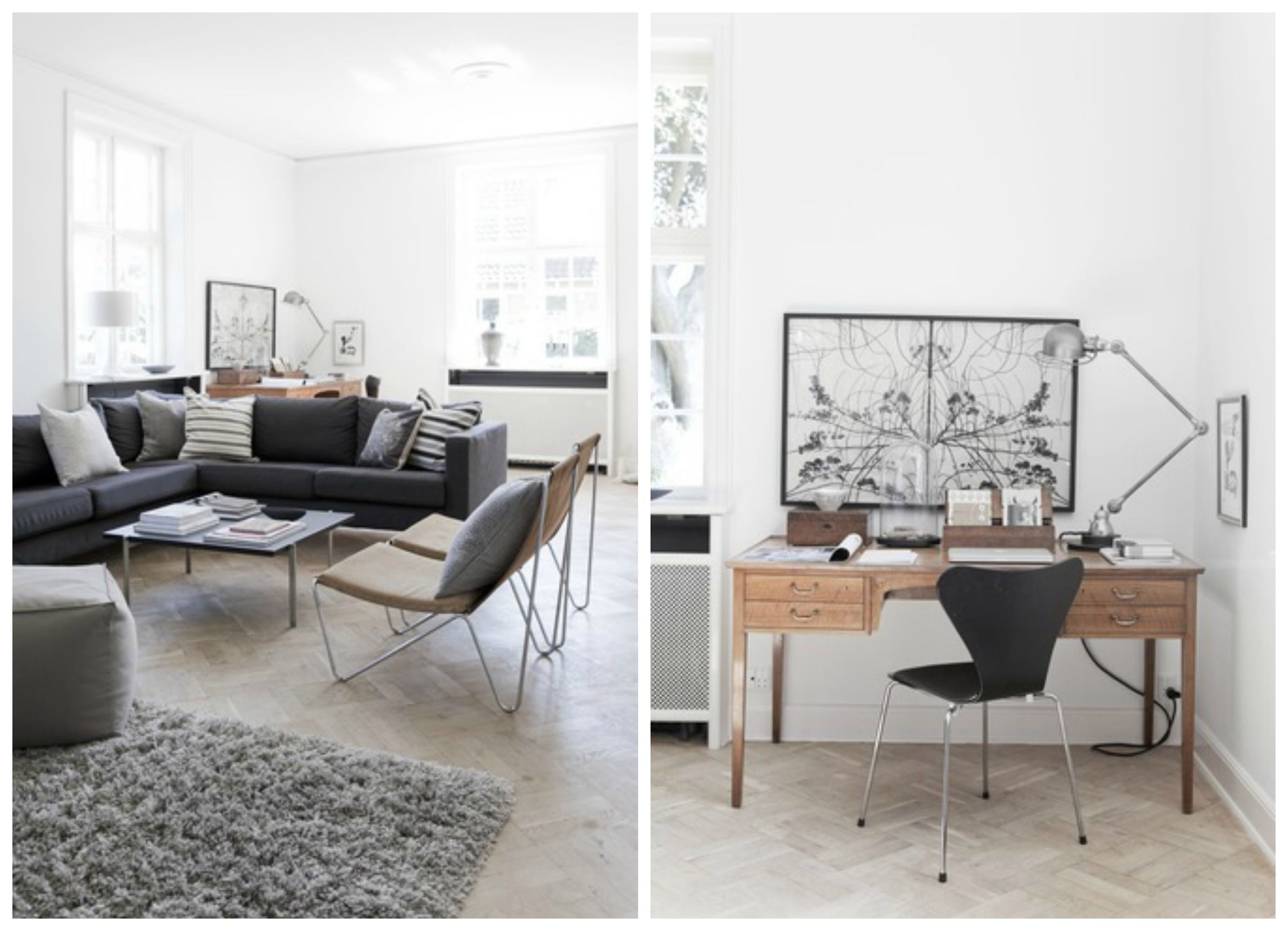 Light filled living room, clean and simple decor | The Dream Haus ...