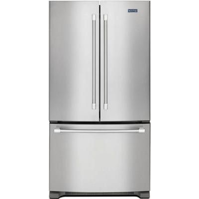 Maytag 20.0 cu. ft. French Door Refrigerator in Monochromatic Stainless Steel, Counter Depth Model # MFC2062DEM Internet # 205390326