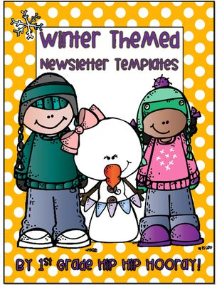 FREE Winter-themed newsletter templates (15 pages) - Keep everyone
