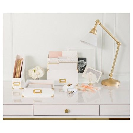 Sugar Paper Desk Accessories At Target In Gold And White Gold Target Office Supplies Design Target Office Gold Home Accessories
