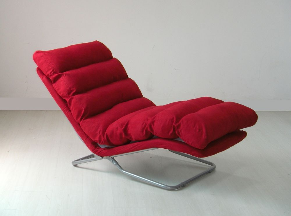 Design möbel sessel  Relax Liege Lounge Sofa Design Couch Sessel Relaxliege Neu Rot in ...