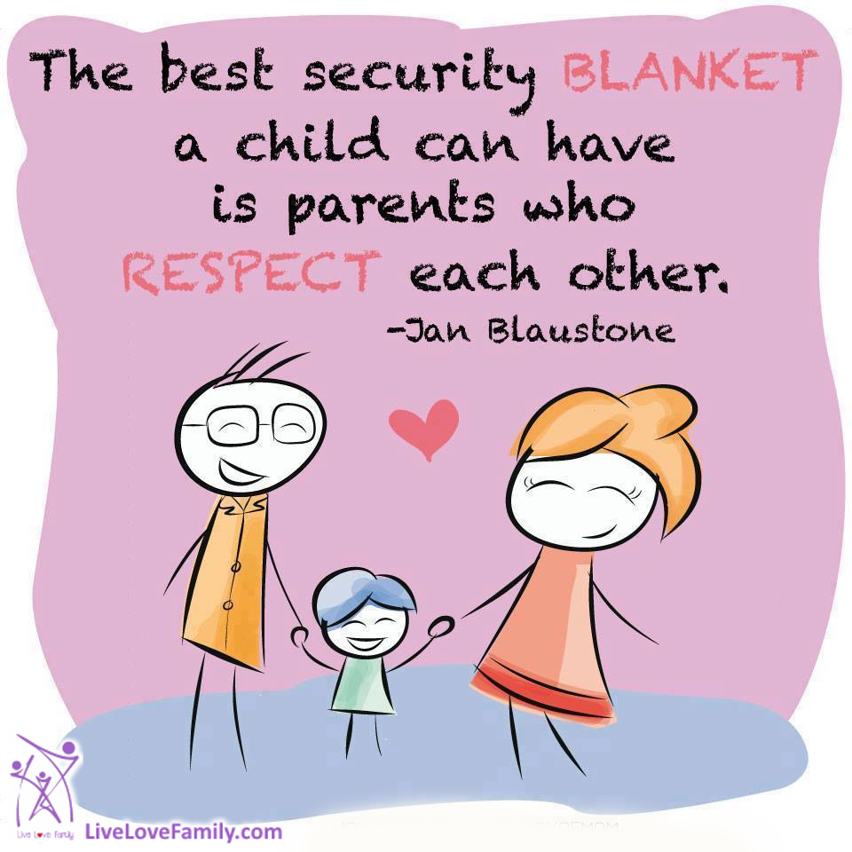 The best security blankey a child can have is parents who ...
