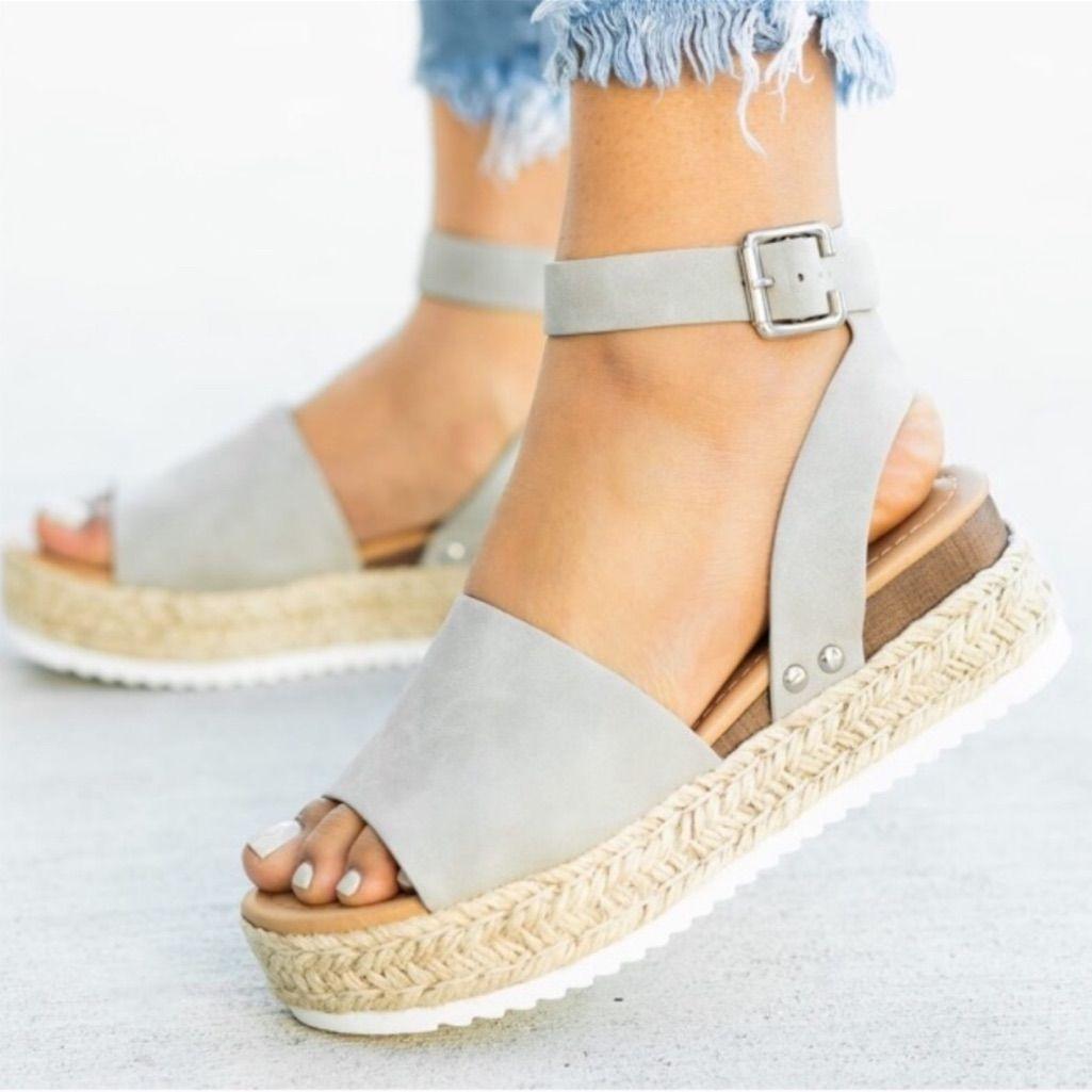 a2eb755ff0d Four Hearts Boutique Shoes | Amelia Espadrille Sandal Dove Grey ...