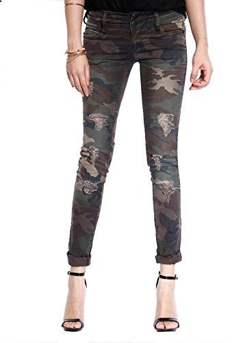 608b0981563a Decree Womens Girls Camo Military Army Cargo Skinny Jeans Trousers  Camouflage 15 Go to the website to read more description.