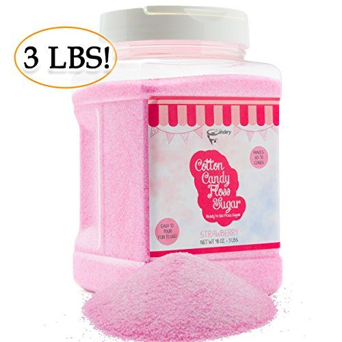 The Candery Cotton Candy Floss Sugar Strawberry Flavor R Https Www Amazon Com Dp B06wvxl3td Ref Cm Sw R Floss Sugar Candy Floss Sugar Jars Easy