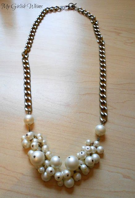 Collar de perlas de racimo de bricolaje | Mi Girlish Caprichos