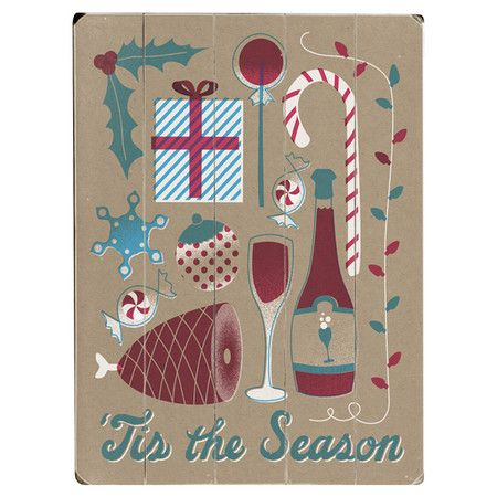 Tis The Season Wall Decor Tis The Season French Paper Vintage Christmas Decorations