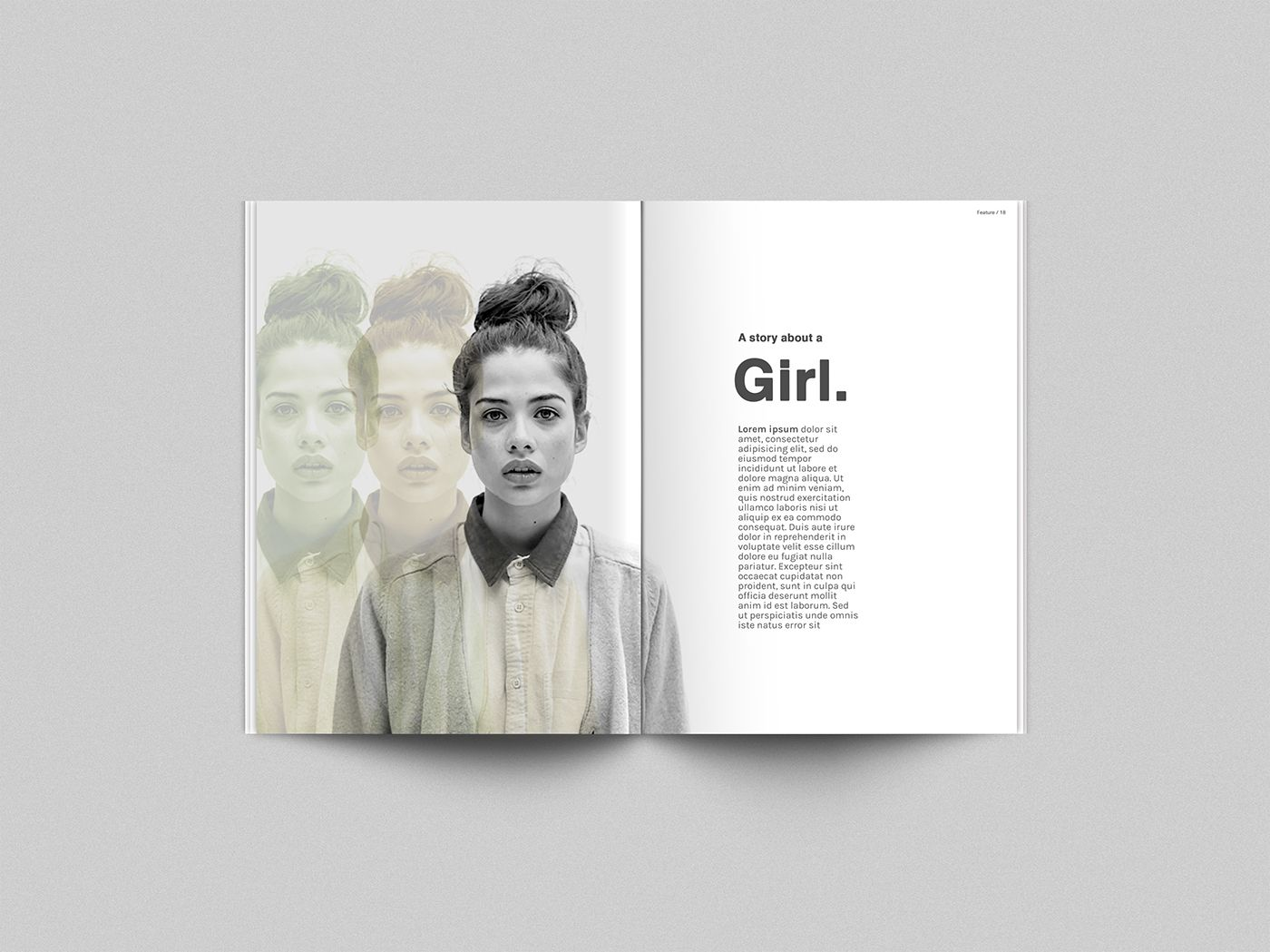 Free Psd Mock Up Template For Your Magazine Concepts This Is An Updated Higher Quality Mock Up With I Magazine Layout Design Graphic Design Jobs Zine Design