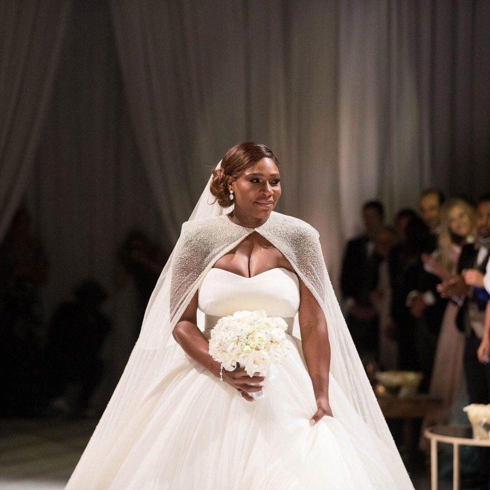 Serena Williams Wore Three Wedding Dresses To Marry Alexis Ohanian Serena Williams Wedding Disney Wedding Dresses Wedding Dresses