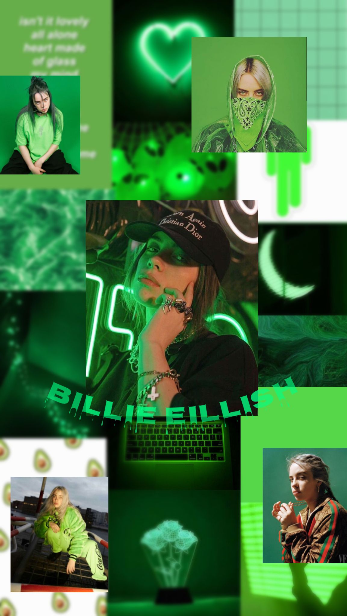 Billie Billie Billie Eilish Green Aesthetic